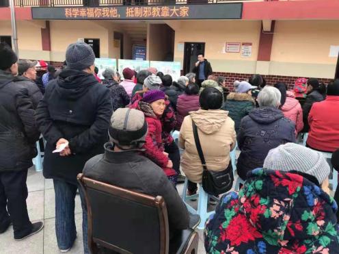 江北区五宝镇开展防范邪教宣传活动