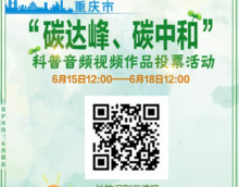 """请为你喜欢的科普作品投票!重庆市""""碳达峰、碳中和""""科普音频视频作品投票活动,火热进行时!"""